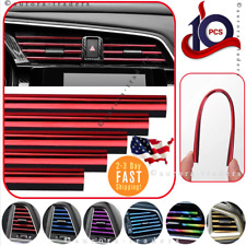 Car Truck Accessories AUTO Air Conditioner Outlet Vent Decoration Strip 10 Pack
