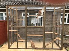 Catio / Cat Lean to 9ft x 6ft x 7.5ft tall with ladders and shelves secure run