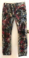 New Authentic Mens Robin's Jeans Marlon Red Brown Blue Denim Pants Jeans Size 32