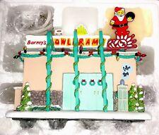 The Simpsons Hawthorne Christmas Village BARNEY BOWLARAMA Holiday Xmas COA A2996