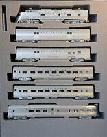 N Scale KATO 'EMD E5A & Silver Streak Zephyr 6 Unit Set' DCC Ready Item #106-090