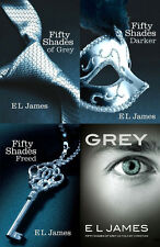 E L JAMES Fifty 50 Shades of Grey, Darker & Freed 4 Books Collection Set