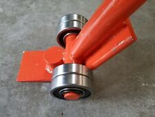 5 Ton Heavy Lifting Crow Pry Johnson J Pinch bar with  steel wheels roller bar