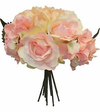 Tulips Roses Hydrangeas Bouquets ~ MANY COLORS ~ Silk Wedding Flowers Bridesmaid