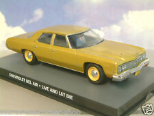 DIECAST 1/43 JAMES BOND 007 CHEVROLET BEL AIR GOLD FROM LIVE AND LET DIE DY124