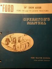 Ford 70 75 Lawn Tractor Snow Thrower & PTO Owner & Parts Manual (2 BOOKS) 20pg