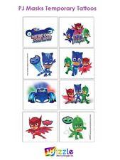 PJ Masks Birthday Party Supplies Tattoo Favors X 8