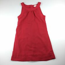 Girls size 8, Pumpkin Patch, red party dress, lined, zip up, GUC