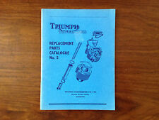 Rare - Triumph Tiger Cub - Replacement parts - Catalogue No 5 - 1958