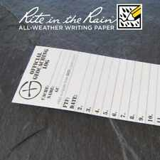 10 x *NEW* GEOLoggers SMALL 4.5cm Geocaching Log Sheet Rite in the Rain