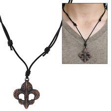 Copper Fleur de Lis Sixth Son Pendant Medieval Renaissance Style Necklace