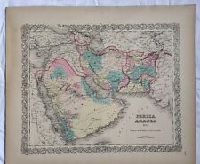 PERSIA ARABIA & c., No 27 Antique Atlas Map 1855 Colton World Maps +