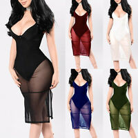 Sexy Women FOMAL Party Evening Club Wear Cocktail SUMMER Mini Bodycon Dress PLUS