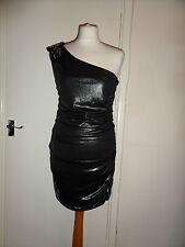New One Shoulder BAY Party Bead Foil Dress Size UK 14 RRP £30 Bronze
