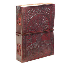 Fair Trade Handmade Indra Tree Of Life Leather Journal 2nd Quality