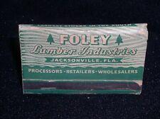 Foley Lumber Industries,Jack 00004000 sonville, Fla.~Building Materials vtg Matchbook