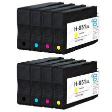 8 Cartouches d'encre (Set) pour HP Officejet Pro 251dw, 8100e, 8600 Plus, 8615