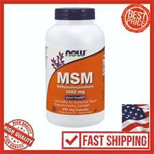 NOW Supplements Methylsulfonylmethane MSM 000 Mg 240 Veg Capsules Health Care