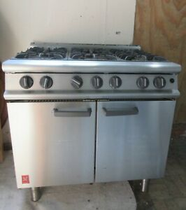 Commercial Cooker 6 Burner Falcon G3101 with Oven NAT GAS Heavy Duty