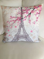 "Throw Pillow Cover Eiffel Tower Digital Print 17"" X 17"" pillow Cover"