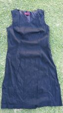 Black sleeveless cotton dres Casual Dress Women's Black casual office dress SZ10