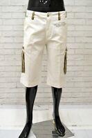 Bermuda YELL Uomo Taglia Size 34 Pantalone Shorts Jeans Pants Man Cotone Bianco