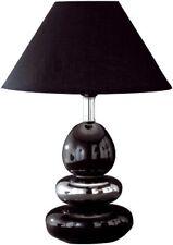 Honsel 57441 Lampe de bureau pied Céramique Noir Chromé Abat jour