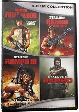 First Blood Rambo 2 3 4 Film Collection Sylvester Stallone DVD Set