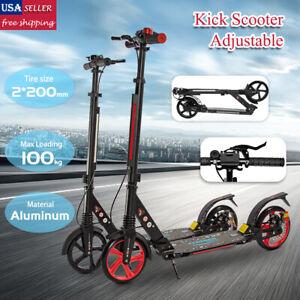 Kick Scooter Large Wheels Foldable Kids Adult Ride Adjustable Supension Gift