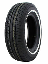 2 New Milestar P195/75R14 MS775 92S White Side Wall All Season Touring Tires