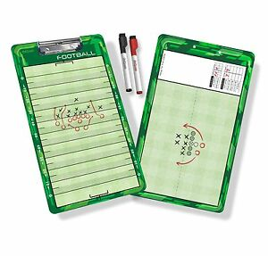 GoSports Football Coaches Board with Dry Erase Markers