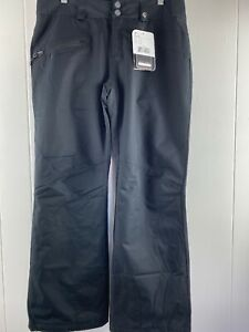 NWT Obermeyer Malta Black THERMORE Water Resistant Pants Women's Size 8 Short