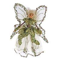 "Katherines Coll 9"" Fairy Green Garden Pixie Sprite Christmas Tree Ornament Doll"