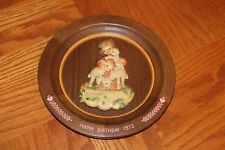 "Anri ""Happy Birthday"" 1972 Wood Carved Plate Juan Ferrandiz Plaque Girl Italy"