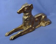 art deco BORZOI metal dog 8""