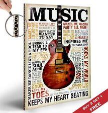 La musica mi ispira A4 POSTER CHITARRA fonte d'ispirazione motivazionali preventivi Decorativo