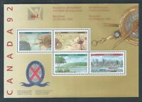 Canada 92 #1407a Souvenir Sheet Mint Never Hinged ** Free Shipping **