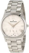 NEW Claude Bernard 23092 3 AIN Womens Classic Silver Sunray Dial Stainless Watch