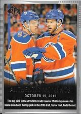 15/16 SP Authentic #160 Authentic Moments Connor McDavid & Taylor Hall RC