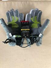 "New listing New Under Armour Nexgen Lacrosse Gloves Gray/Lime Green Medium 9"" Nexglm-M-Gry f"