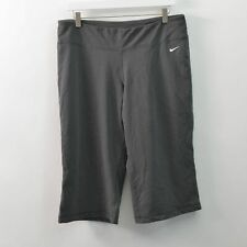 Nike Yoga Capri Pants Gray Stretch Crop Womens XL