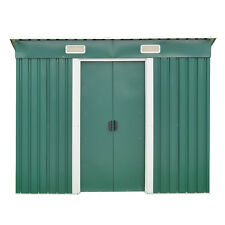 6' X 4' Outdoor Garden Storage Shed Patio Tool House Sliding Door Green