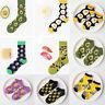Unisex Men Women Funny Sock Fruit Food Print Cotton Short/Long Novelty Socks Sox