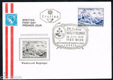 AUSTRIA 1 BUSTA PRIMO GIORNO FDC TURISMO E ALPINISMO 1970