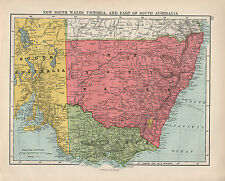 1924 PRINT ~ AUSTRALIA SOUTH EAST ~ NEW SOUTH WALES VICTORIA