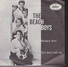 Beach Boys Barbara Ann / Girls Don't Tell Me Holland Import 45 W/ Picture Sleeve