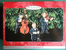 HALLMARK 1998 Larry, Moe & Curly THE THREE STOOGES Musicians 3-ORNAMENTS-NIB+pt