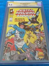 Justice Machine Annual #1 - CGC SS 9.6 -Signed by Bill Willingham 1st Elementals