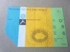 Billet Jeux Olympiques Munich 1972-Handball 8.09.1972