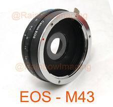 Canon EOS Lens to MFT M4/3 Panasonic GF7 GF5 GX1 G3 G2 adapter Build-in Aperture